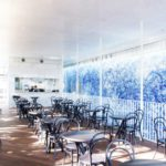 Inside view of cafe & restaurant Kamitsubaki
