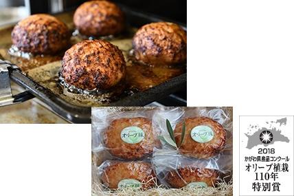 オリーブ豚100%使用ハンバーグwith さぬき逸品肉みそソース