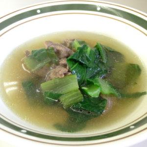 食べて菜のスープ