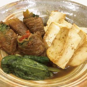 Tabetenaの肉巻き豆腐