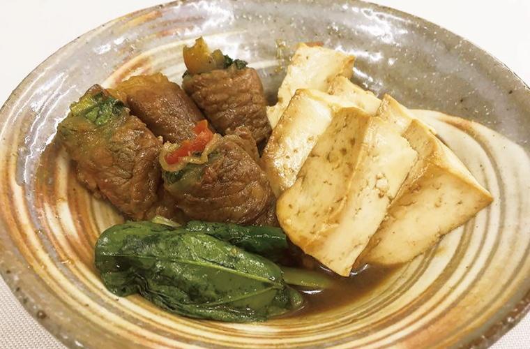 먹고 채소 고기 감기 두부
