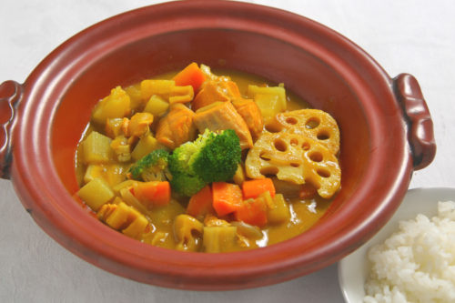 Root vegetable white miso curry