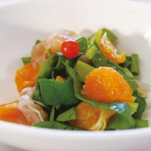 Eat vegetables and mandarin orange salad